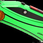 E-Scooter Detail Akkufach mit Zündschloß