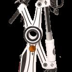 E-Scooter Weiß, gefaltet